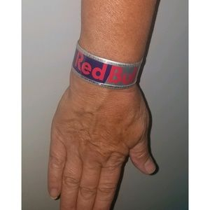 Red Bull Upcycled Can Cuff Bracelet Eco-friendly